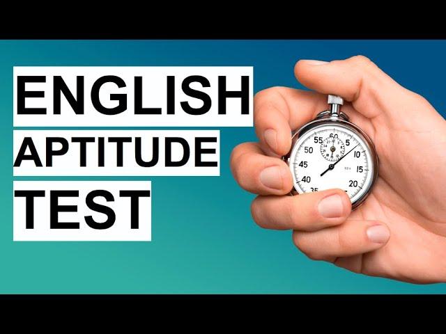English aptitude test