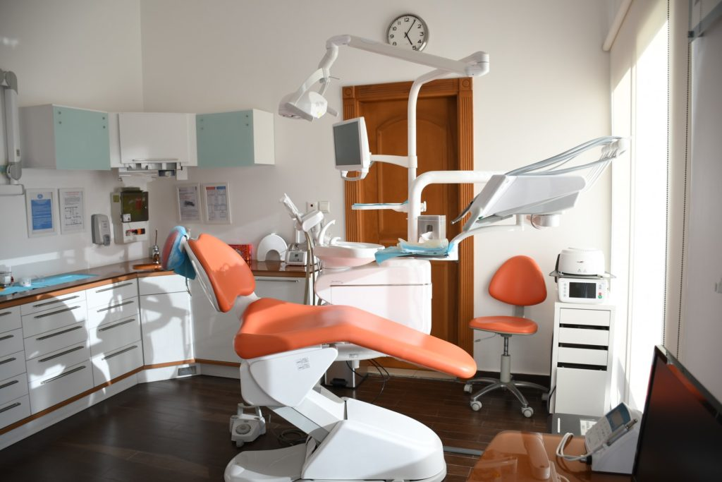 visiting a dentist
